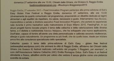 DocFaber al Gluten Free Festival – Reggio Emilia